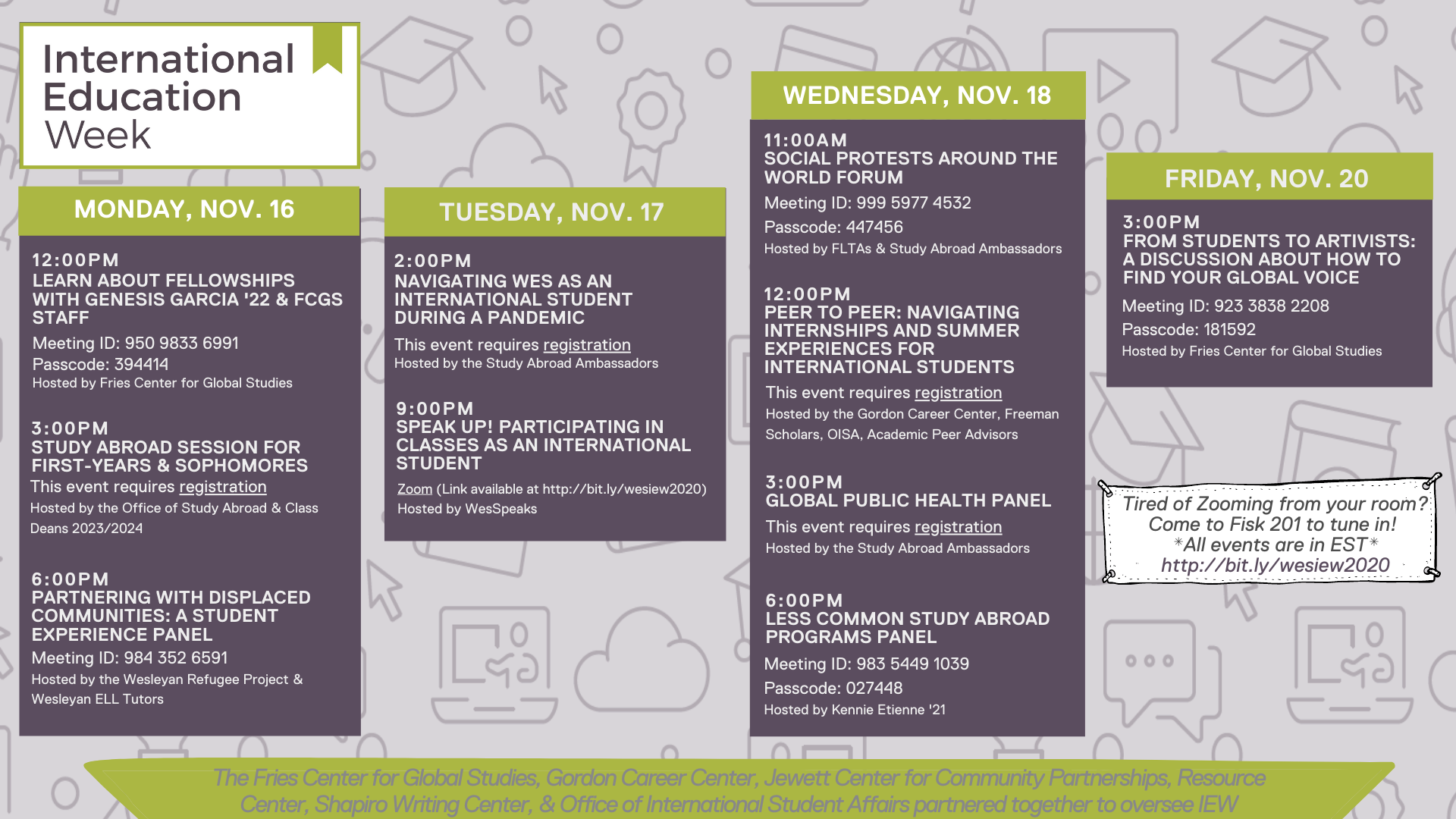 Mark your calendars for the International Education Week