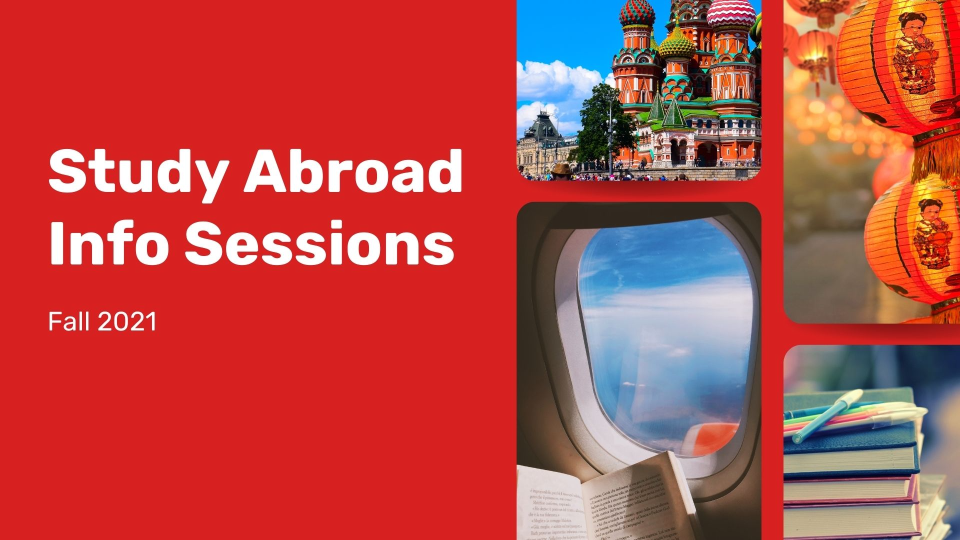 Study Abroad Info Sessions in Fall 2021