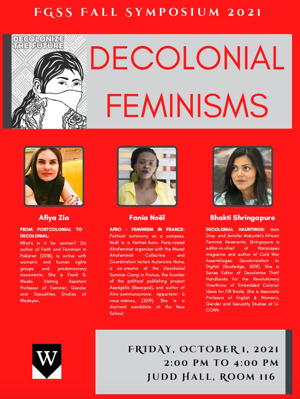 FGSS Fall Symposium: Decolonial Feminisms