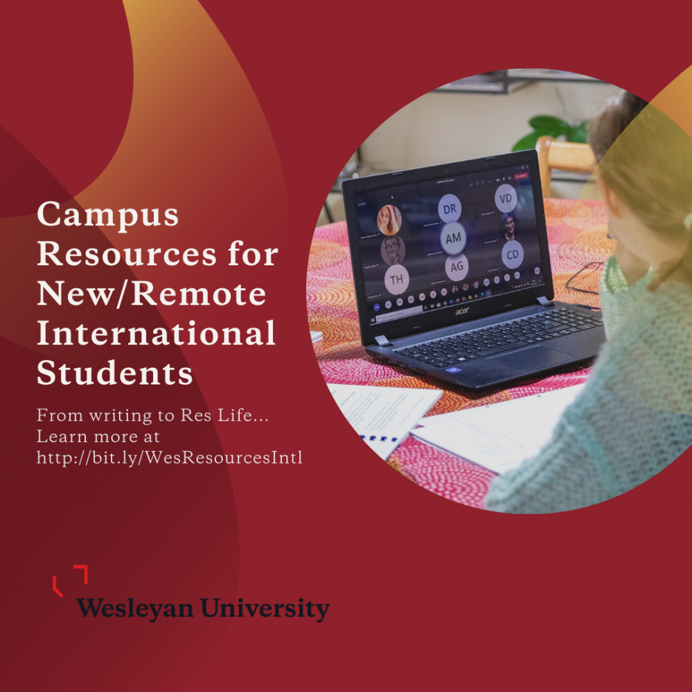 From writing to ResLife... Learn more about campus resources for new and remote international students at http://bit.ly/WesResourcesIntl